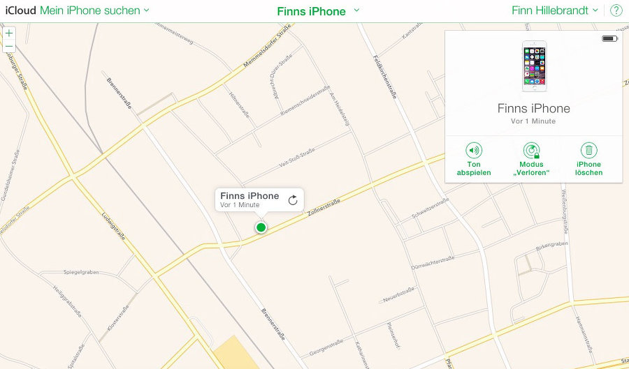 Smartphones über den Browser orten